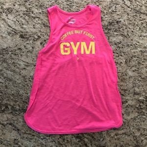 Old Navy Coffee But First Gym Workout Tank